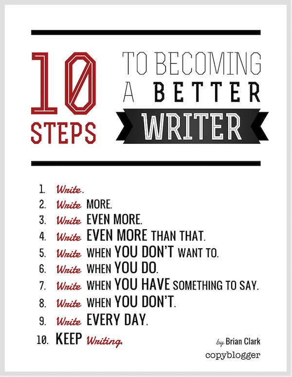 """""""10 pasos para convertirte en un mejor escritor"""" por Brian Clark"""