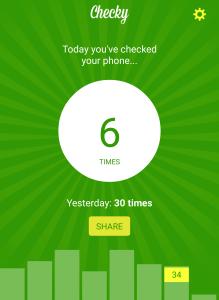Checky app - Adicción al móvil
