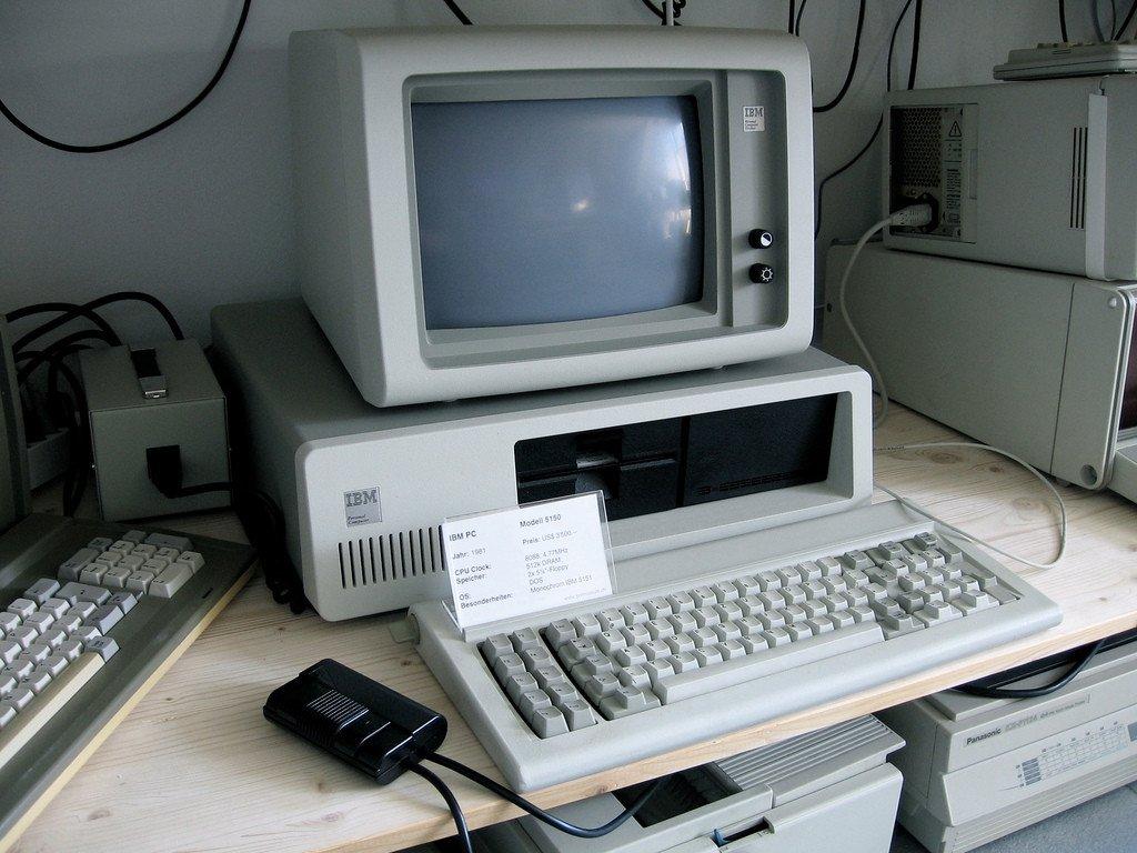 PC IBM de los años ochenta