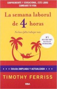 "Portada del libro ""La semana laboral de 4 horas"" de Tim Ferriss"