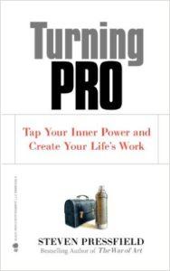 "Portada de libro ""Turning Pro"" de Steven Pressfield"