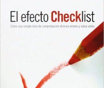 """Portada del libro """"El efecto Checklist"""" de Atul Gawande"""
