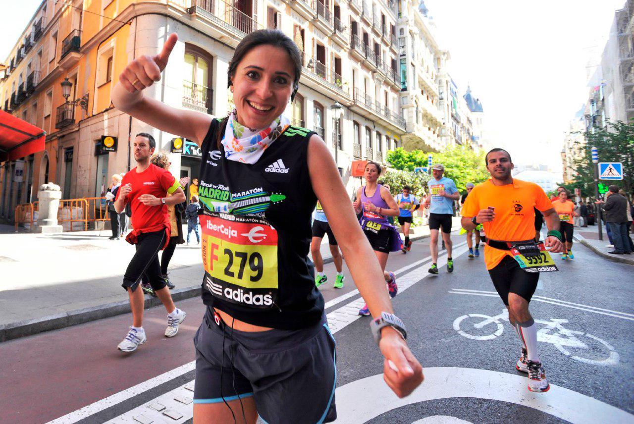 Alicia Mora, corredora de maratones