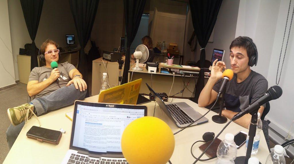 Marc Alier y Daniel Amo grabando episodio de zetatesters