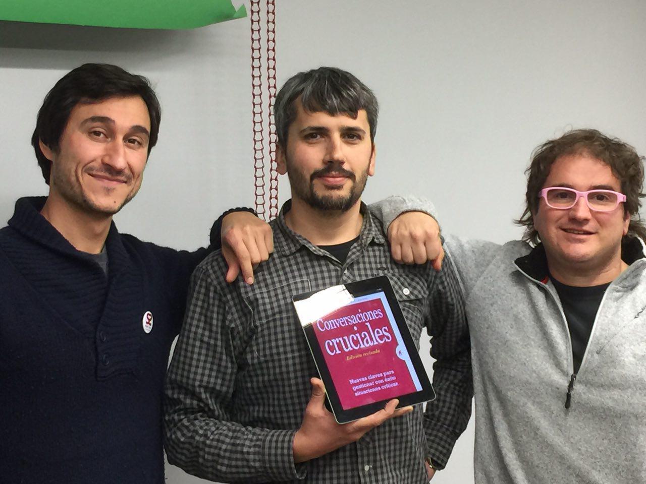 Dani Amo, Carles Caño y Marc Alier
