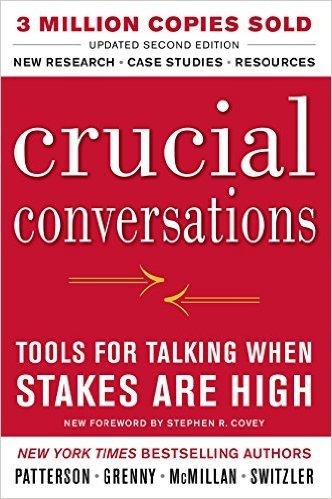 """Portada del libro """"Crucial conversations"""" de Kerry Patterson, Joseph Grenny, Ron McMillan y Al Switzler"""