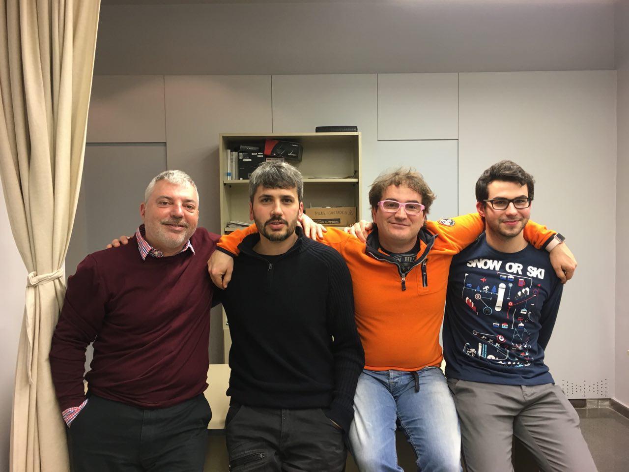 Tomàs Manzanares, Carles Caño, Marc Alier i Miquel Àngel Cabrera