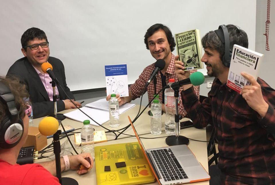 Marc Alier, Jordi Martínez, Daniel Amo y Carles Caño