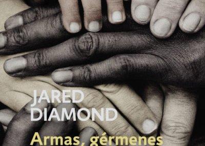 """Portada del libro """"Armas, gérmenes y acero"""" de Jared Diamond"""
