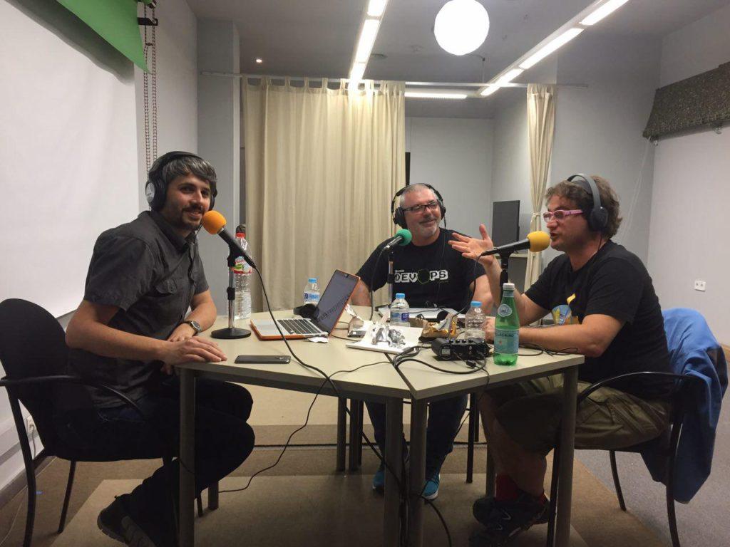 Carles Caño, Tomàs Manzanares y Marc Alier