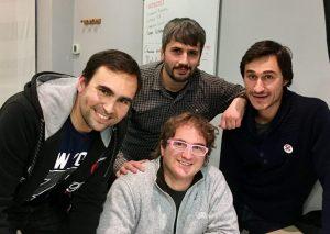 Ricardo Téllez con Marc Alier, Carles Caño y Daniel Amo