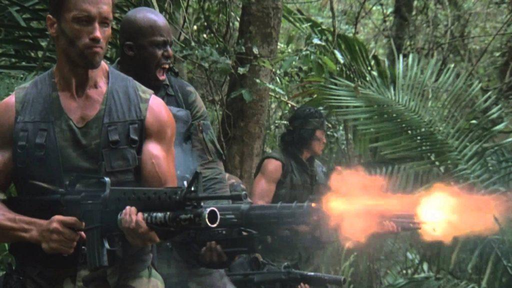 Escena metralletas de la película