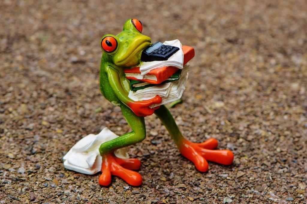 Una rana estresada