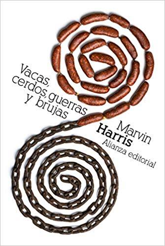 """Portada del libro """"Vacas, cerdos, guerras y brujas"""" de Marvin Harris"""