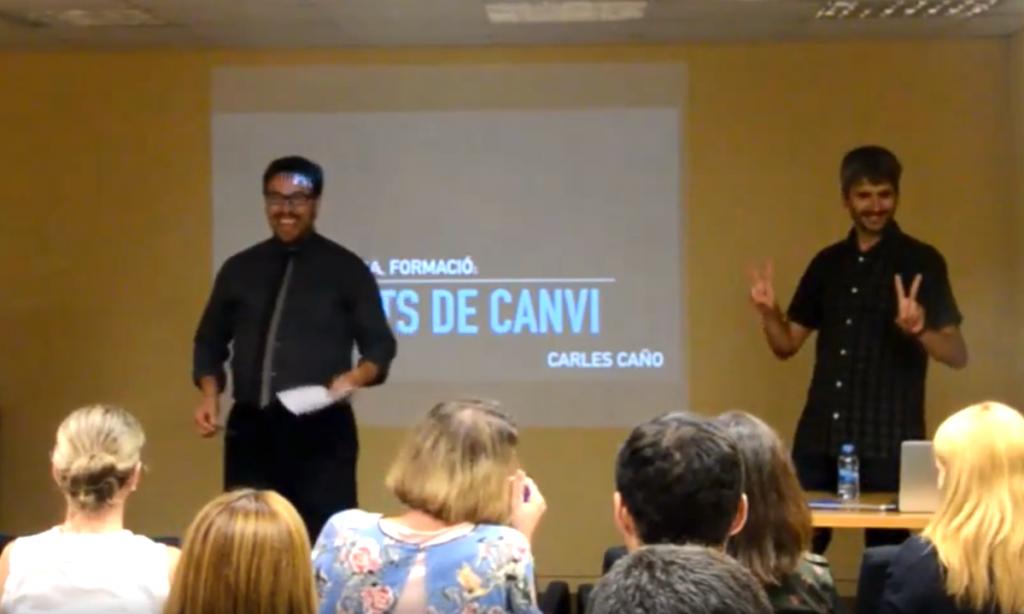 Roger Prat y Carles Caño aplicando el humor en la empresa